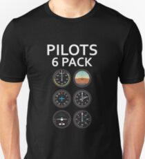 Pilots Six Pack Airplane Instruments T-Shirt