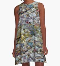 Rocky Shoreline of The Soo A-Line Dress