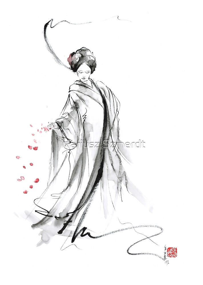 Quot Geisha Poster Japanese Painting Home Decor Art Print Quot By