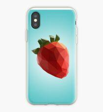 Polygon Erdbeere iPhone-Hülle & Cover