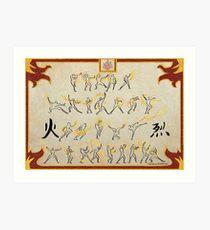 Avatar the Last Airbender - Fire Scroll Art Print