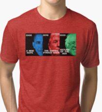 Star Wars Trilogy - Obama, Trump, Bernie  Tri-blend T-Shirt