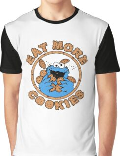 Cookie monster - Eat MORE Cookies Graphic T-Shirt