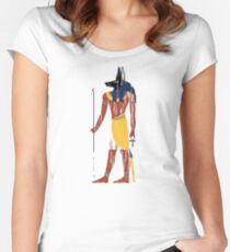 Anubis Ancient Egypt Women's Fitted Scoop T-Shirt