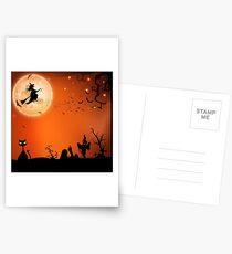 Halloween Antics Postcards