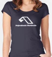 World Wide Beats Record of Anjuna Women's Fitted Scoop T-Shirt