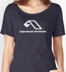 World Wide Beats Record of Anjuna Women's Relaxed Fit T-Shirt