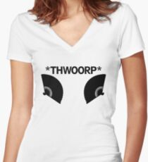 *THWOORP* Fans Women's Fitted V-Neck T-Shirt