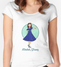 Wicked_Faery Twitch Stream Logo Women's Fitted Scoop T-Shirt