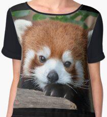 Shy Red Panda Chiffon Top