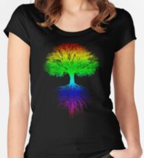 Sunshine, Lollypops and Rainbows Women's Fitted Scoop T-Shirt