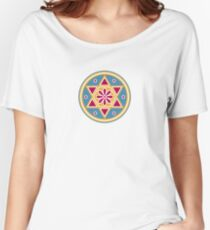 Hexagram, ✡ , Magic, Merkaba, David Star, Solomon Women's Relaxed Fit T-Shirt