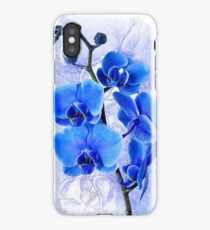 Custom Phone Cases and Skins with Blue Orchid Flower iPhone Case/Skin