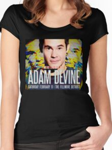 adam devine tour 2017 Women's Fitted Scoop T-Shirt