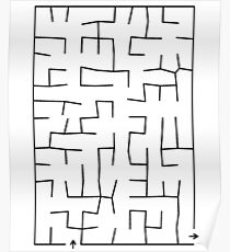 Fun Maze Design Massage Shirt Poster