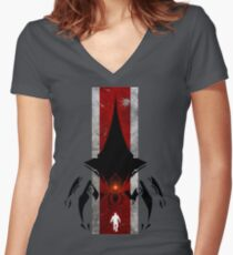 The commander t-shirt & Poster Women's Fitted V-Neck T-Shirt
