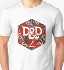 Hand Painted Watercolor DnD D20 Unisex T-Shirt