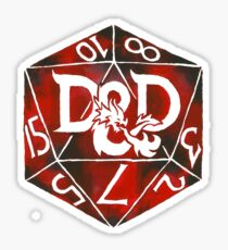 Hand Painted Watercolor DnD D20 Sticker