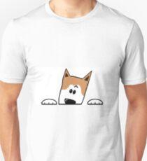 akita peeking T-Shirt