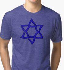 Star of David, ✡, Hexagram, Israel, Judaism,  Tri-blend T-Shirt