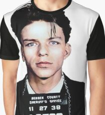 Frank Sinatra Mugshot Colorized Graphic T-Shirt
