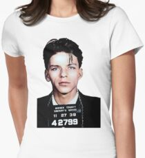 Frank Sinatra Mugshot Colorized Women's Fitted T-Shirt