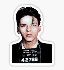 Frank Sinatra Mugshot Colorized Sticker