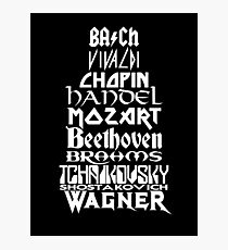 Composers Photographic Print