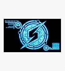 Neon Zebes Symbol Photographic Print