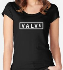 Valve Logo Women's Fitted Scoop T-Shirt