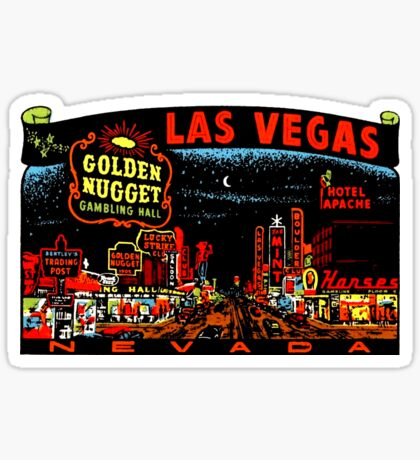 Las Vegas Strip Nevada Vintage Travel Decal Sticker