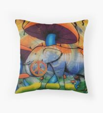 Invisiphant  Throw Pillow