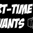 Part-Time Savants Robot Sticker (black and white) by parttimesavants