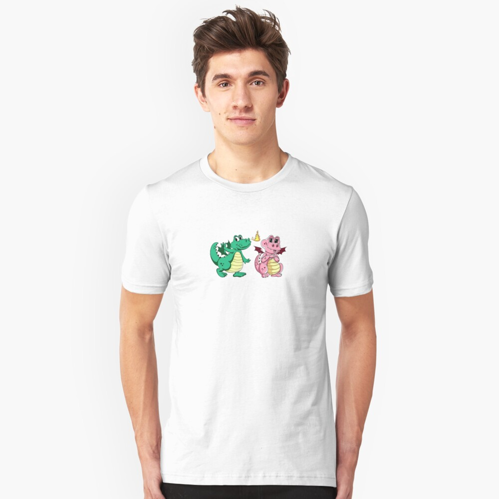 Pinky and Green happy pair Unisex T-Shirt Front