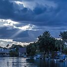 Sunset Rays by the Dock by George Lenz