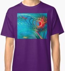 Cool Unique Light Blue Colorful Fractal Art - Shirts And Gifts Design Classic T-Shirt