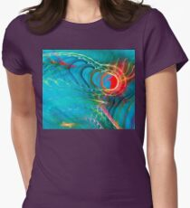 Cool Unique Light Blue Colorful Fractal Art - Shirts And Gifts Design T-Shirt