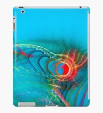 Cool Unique Light Blue Colorful Fractal Art - Shirts And Gifts Design iPad Case/Skin