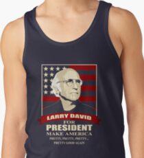 Camiseta de tirantes Larry David para presidente