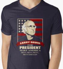 Larry David for President Men's V-Neck T-Shirt