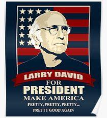Larry David für den Präsidenten Poster