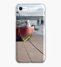 fishing boats anchored in Youghal bay iPhone Case/Skin