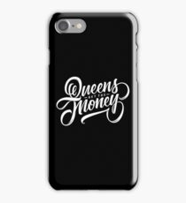 QUEENS - Hand Lettering Black & White iPhone Case/Skin