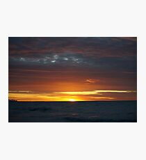 Dark cloud sunset Photographic Print