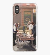 Clam seller on Mulberry Bend, New York, ca 1900 iPhone Case