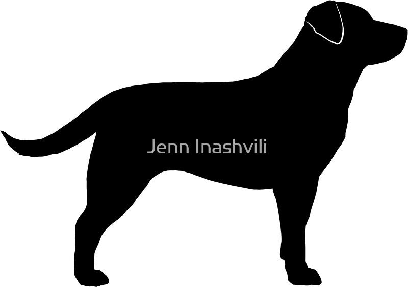 black labrador retriever silhouettes by jenn inashvili