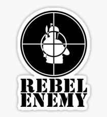 Rebel Enemy Black Sticker