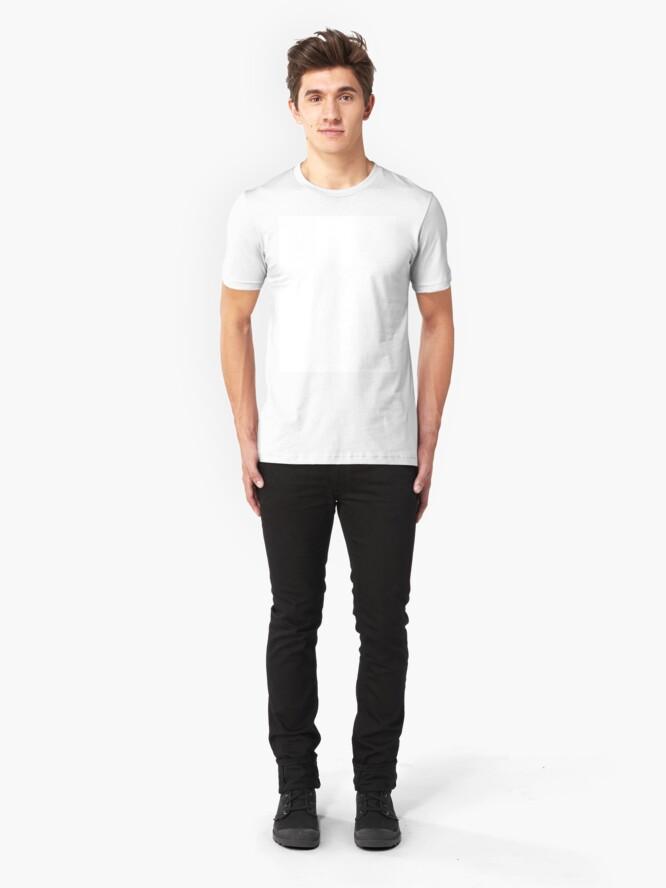 Alternate view of White test Slim Fit T-Shirt