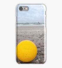 giant yellow buoy on beach iPhone Case/Skin