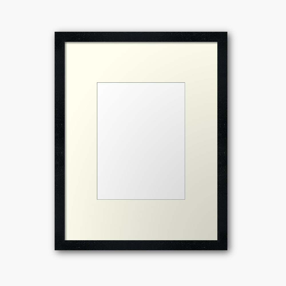 White test Framed Art Print